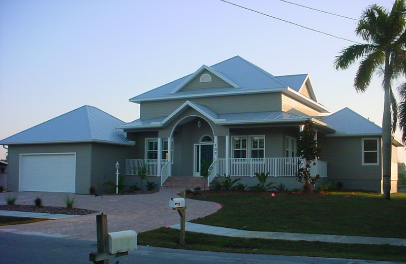 Old florida style custom home port charlotte home for Florida house styles
